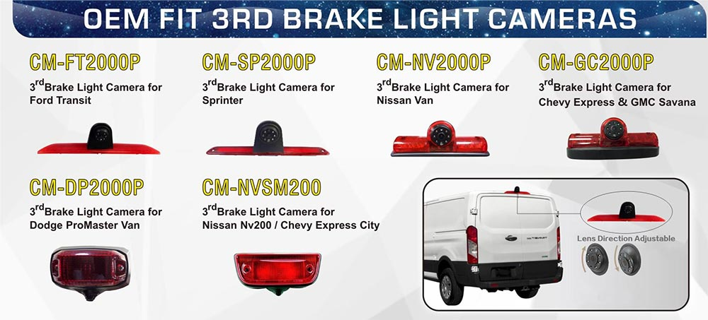 OEM FIT 3rd Brake Light Backup Camera Options